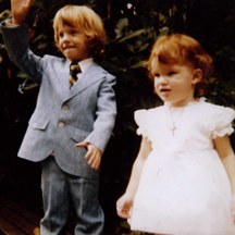 Heather Davis at two years old with her brother