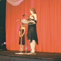 Heather Davis accepts The Golden Heart Award